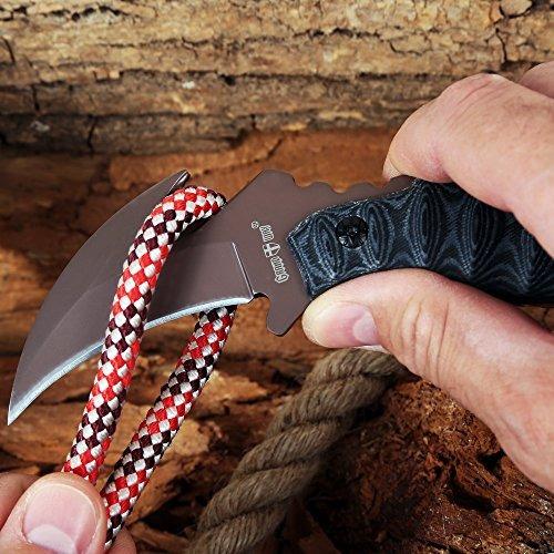 ¿gran forma de karambit claw knife? ¿cuchillo táctico de hoj
