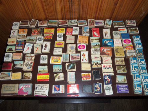 gran lote! 105 cajas de fósforos varios países