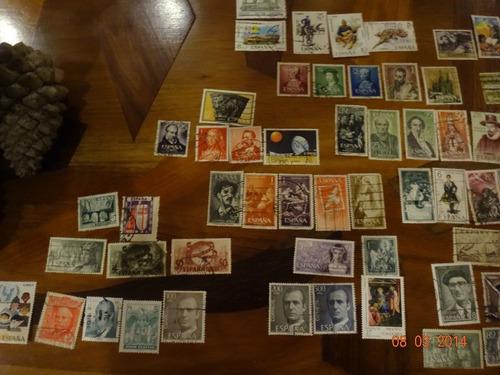 gran lote de 300 estampillas diferentes de españa sellos