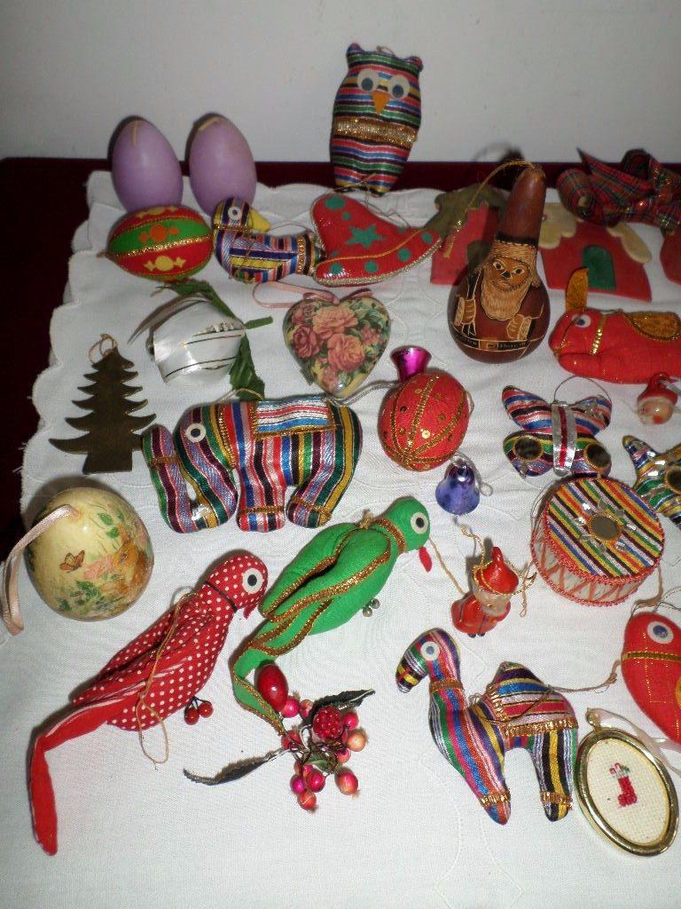 gran lote de adornos navideos de tela peruanos y otros