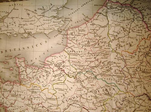 gran mapa de francia. parís, 1821. a. brue. 68 x 54 cm.