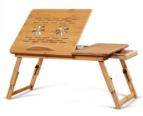 gran mesa de madera de bambú para computadora portátil...
