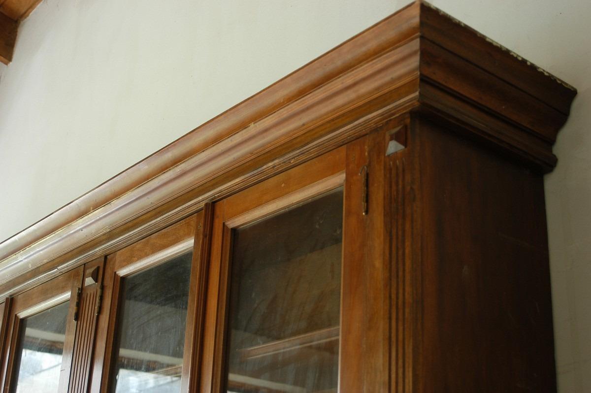 Gran mueble biblioteca antiguo nogal camara diputados for Muebles usados santiago