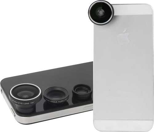 gran oferta! clip kit lente ojo de pez,macro, wide celulares