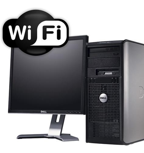 gran oferta pc torre completa dual core 4gb 160gb + wifi