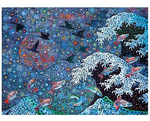 gran ola baila con estrellas rompecabezas 500 pz clementoni