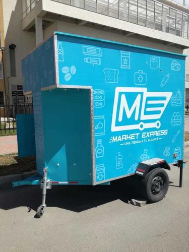 gran oportunidad de negocio,vendo trailer, tienda movil