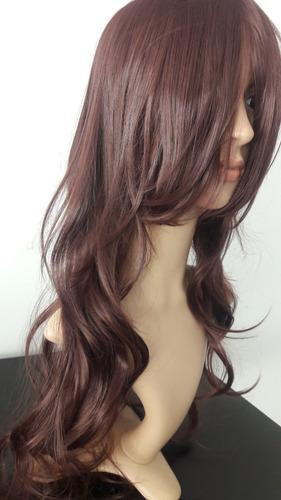 gran peluca chocolate hot resist calor tupida/opaca diario