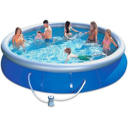 gran piscina inflable 10.179lt gomón con filtro y bomba