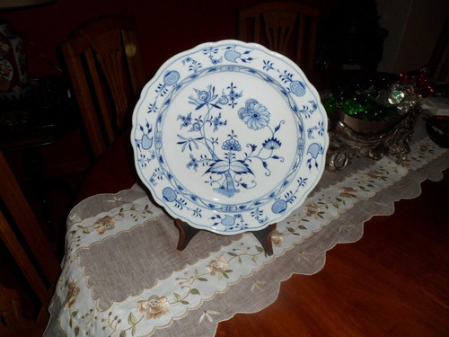 gran plato de porcelana alemana