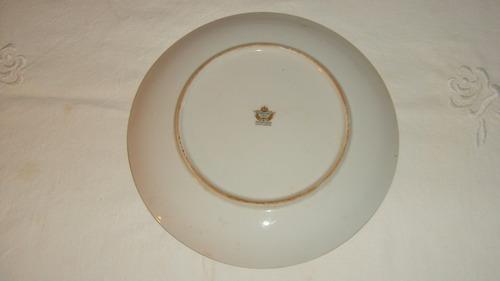 gran plato porcelana tsuji decorado con paisaje