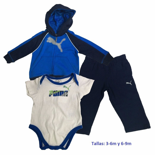 gran remate conjunto de pants marca puma para bebe/niño