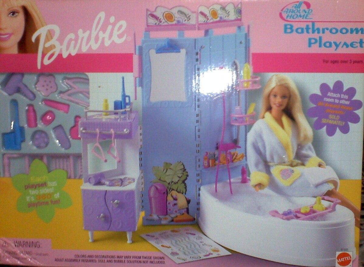 Gran set de bano muebles y accesorios para barbie for Muebles y accesorios para bano