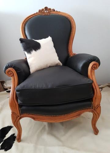gran sillón luis xv colonial frances original