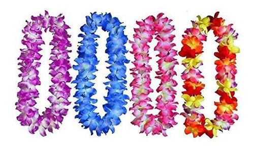 gran tamaño 41 un conjunto de 4 hawaiano tropical con volan