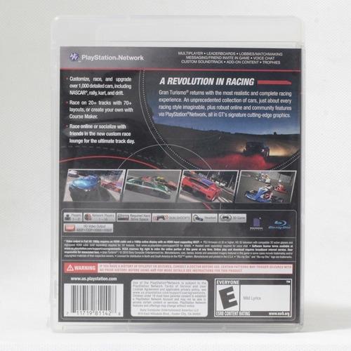 gran turismo 5 / playstation 3 - original com caixa e manual