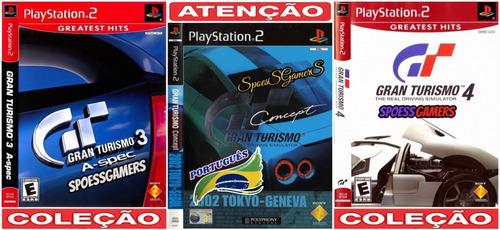 gran turismo ps2 coleção (3 dvds) patch português me