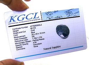 gran zafiro certificado 65.00 quilates
