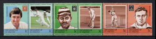 granadinas de são vicente - jogadores de críquete - 1984
