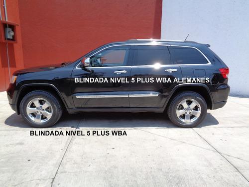grand cherokee hemi 4x4 blindada nivel 5 plus 2012 impecable