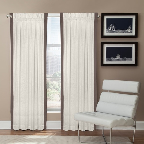 grand luxe linen central park rod pocket cortina panel