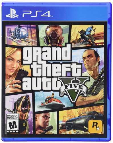 grand theft auto 5 cinco playstation 4 ps4 standard edition