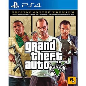 Grand Theft Auto 5 Gta V Ps4 Premium Online Edition Esp