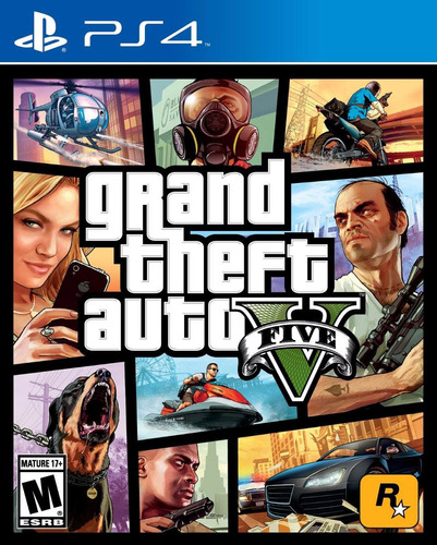 grand theft auto 5 - gta5 - ps4 - nuevos y sellados