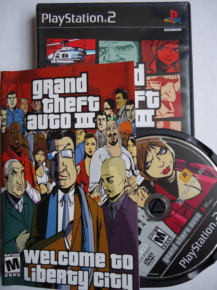 grand theft auto iii gta 3 para playstation 2 ps2 completo. Black Bedroom Furniture Sets. Home Design Ideas