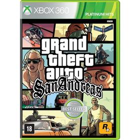 Grand Theft Auto Gta San Andreas Xbox 360 Midia Fisica