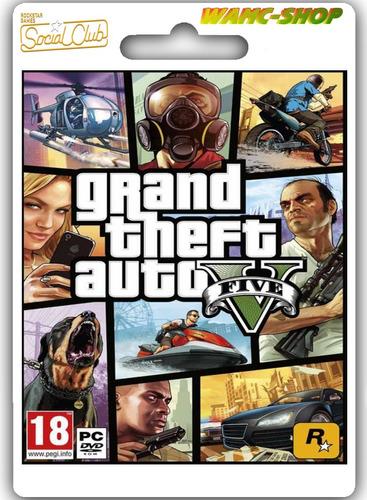 grand theft auto v código + online original garantía!! [pc]
