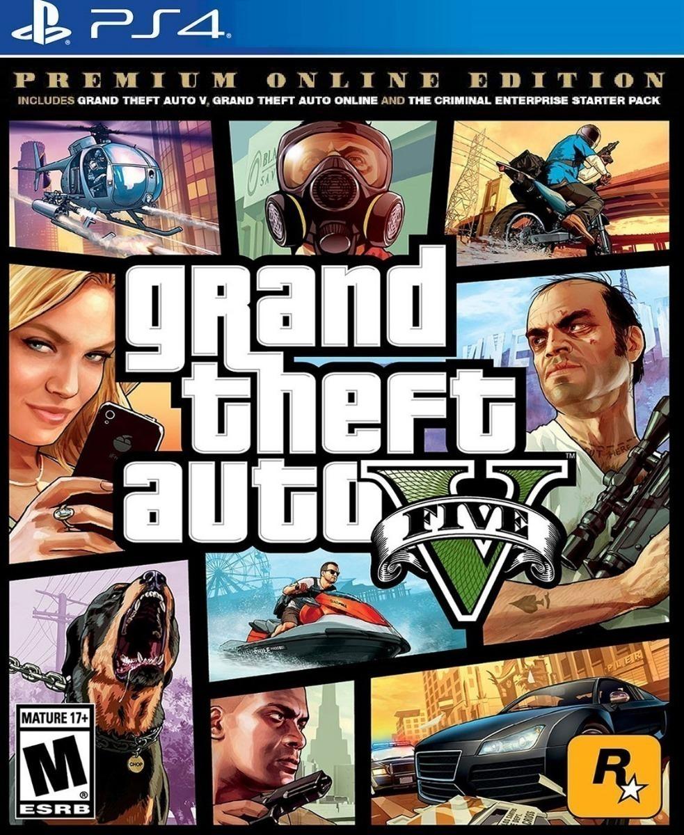 Grand Theft Auto V Gta 5 Premium Ps4 Fisico Sellado Sin Uso