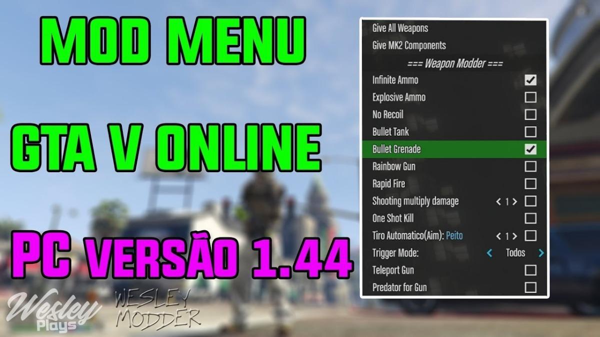 e4d4068517 Grand Theft Auto V - Mod Menu - Pc - Steam social Club 1.46 - R  130 ...