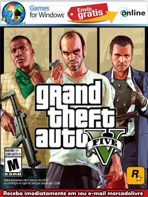 2152d8453 Grand Theft Auto V - Rockstar Games Pc Digital - R$ 25,00 em Mercado ...
