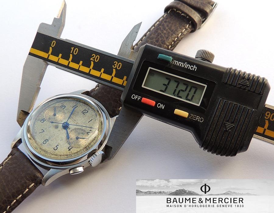 64886c297e0 Grande Cronógrafo Baume   Mercier Em Aço - Década De 1930 - R  2.800 ...