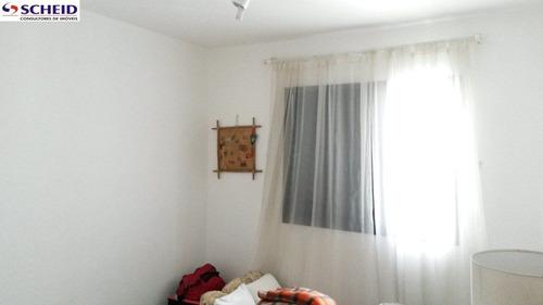 grande oportunidade ! 02 dormitórios, 01 vaga, 55m, com armários embutidos, pronto para morar. - mc3039