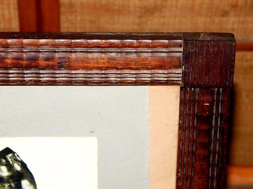 grande porta retrato em antigo jacarandá 35,5 x 29,5