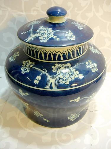 grande potiche pote em porcelana oriental bela decoração