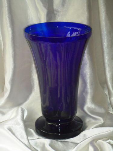 grande,belo,raro vaso azul cobalto intenso,itália,déc50