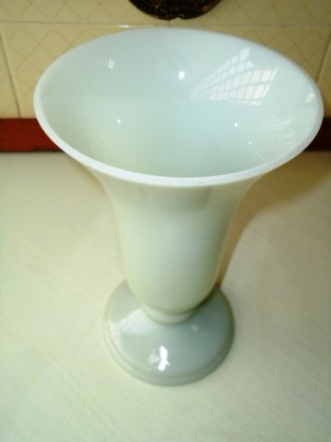 grande,belo,raro vaso opalina gelo acinzentado,itália,déc50