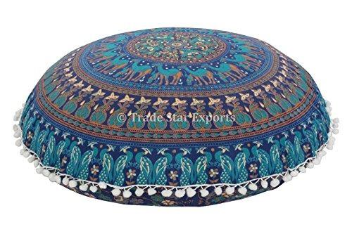Grandes 32\\ Ronda Almohada, Almohada Decorativa Mandala, - $ 724.77 ...