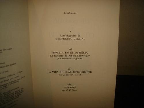 grandes biografías-benvenuto cellini, einstein albert sch...