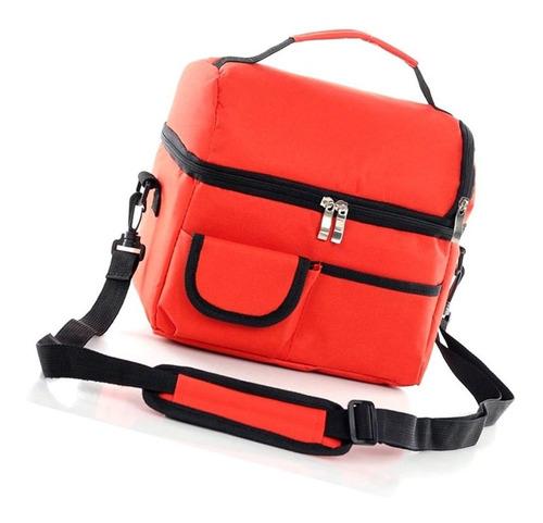 grandes de color rojo doble de picnic paquete de aislamiento