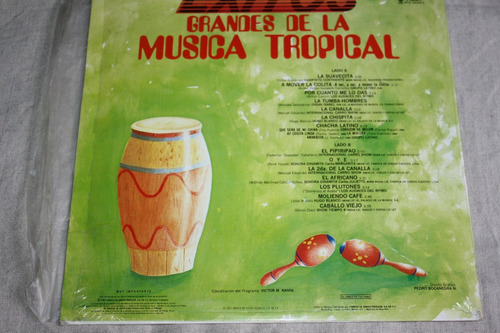 grandes de la musica tropical, acetato