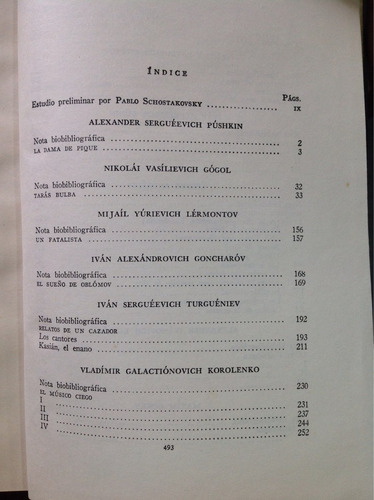 grandes escritores rusos/en la colección de clasicos jacson