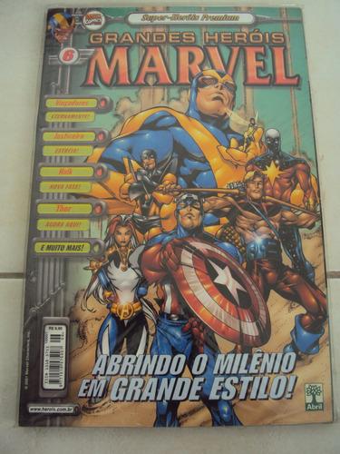 grandes heróis marvel # 06 - 3ª série - premium - abril