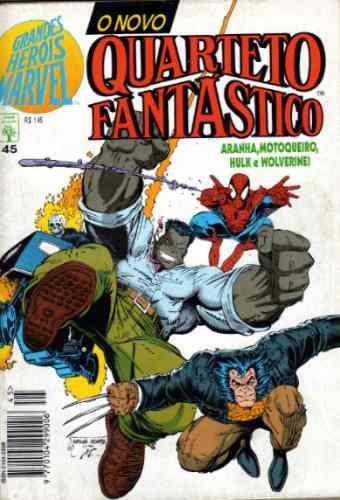 grandes heróis marvel format nº 45 aranha hulk wolver motoq