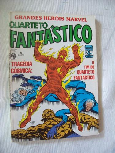 grandes heróis marvel nº 12: quarteto fantástico - 1986
