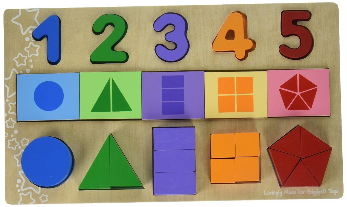 Grandes Plantillas Abc Fracciones De Puzzle Set - $ 1,329.00 en ...