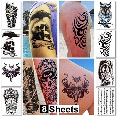 Tatuajes Pegatina grandes tatuajes temporales chicos hombres pegatinas tatuaje